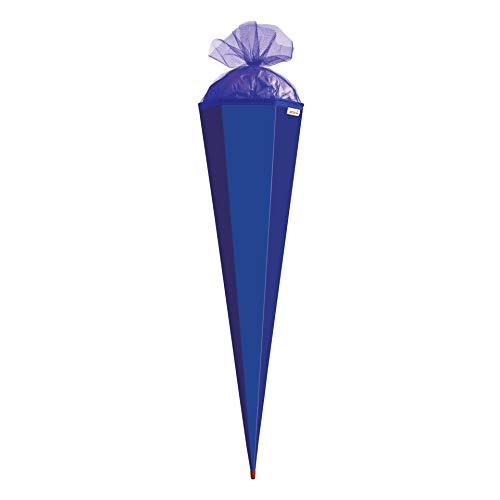 ROTH Bastelschultüte 85cm ultramarinblau blau sechseckig - Schultüte mit Stabiler Rot(h)-Spitze mit...