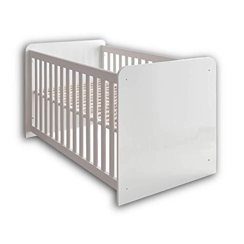 Stella Trading MARA Sicheres Babybett mit 70 x 140 cm Liegefläche - Schönes Baby Gitterbett für einen...