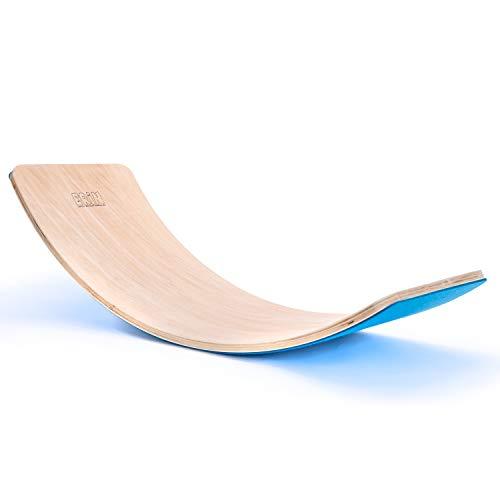"""Erin - Balance Board """"Blau"""" aus Birken Holz für Kinder & Erwachsene - Wackelboard für Motorik Training..."""
