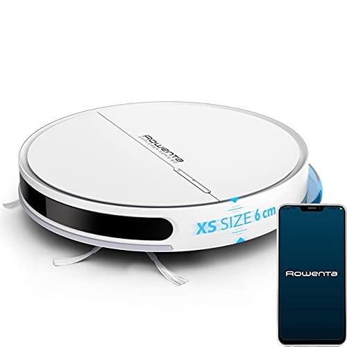 Rowenta Saugroboter mit Wischfunktion Staubsauger Roboter RR7427, 14,4V, 4000Pa Stark, Ultra Dünn, App Alexa,...