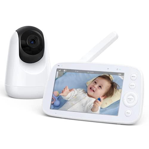 Babyphone mit Kamera 5 Zoll 720P IPS HD...