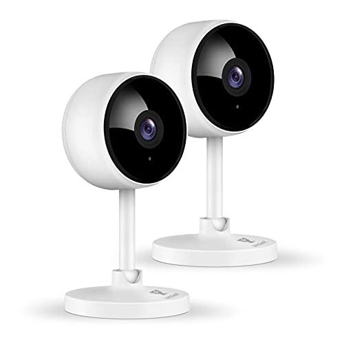 1080P Überwachungskamera, Littlelf 2 Stück Hunde Kamera, WLAN Kamera mit Bewegungserkennung, Nachtsicht,...