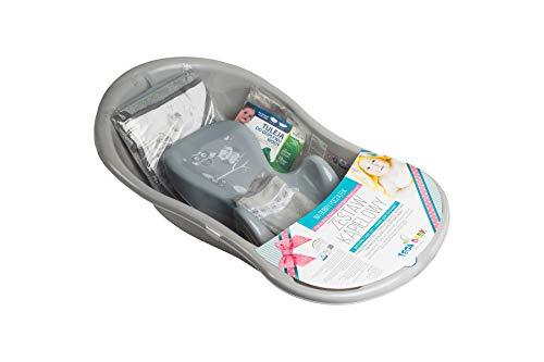 Tega Baby ® SET 5-teilig Badewanne Badesitz für Baby, ab 0 Monate mit eingebautem Thermometer - Anti-rutsch,...