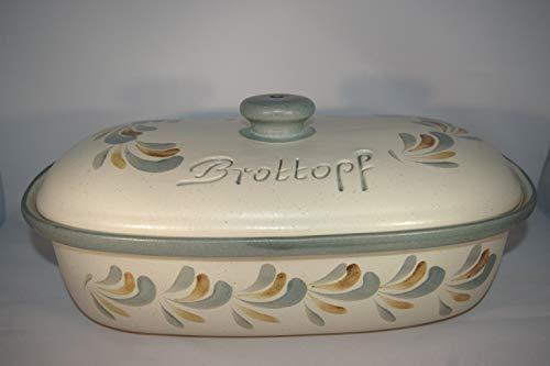 Töpferei Seifert Brottopf Schilf Gross 40 cm | Brotkasten | Brotbox | Brotdose | Brotbehälter | Steinzeug |...