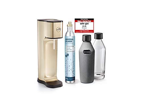 mySodapop Wassersprudler Joy Prestige Champagne Trinkwassersprudler inkl. 2 Glaskaraffen & CO2-Zylinder l Soda...