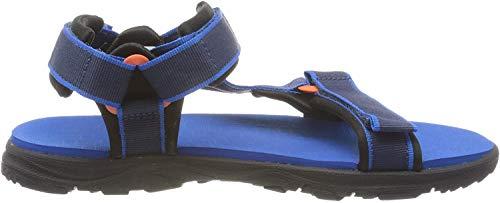 Jack Wolfskin Unisex-Kinder Seven SEAS 3 K Sport Sandalen, Blau (Blue/Orange 1174), 30 EU