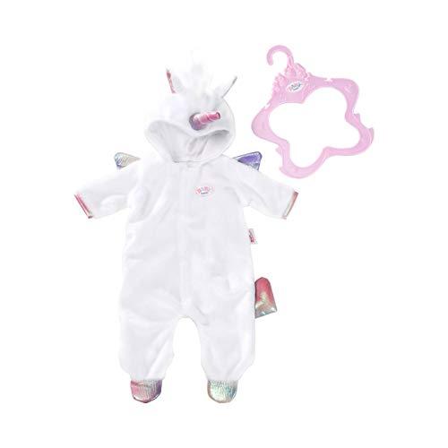 Zapf Creation 824955 BABY born Kuschelanzug Einhorn Puppenkleidung 43 cm, bunt