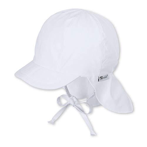 Sterntaler Unisex Jungen Mütze Schirmmütze m. Nackenschutz 1511410, Weiß (Weiss 500), 43