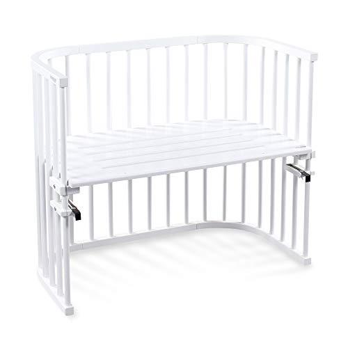 babybay Maxi extra großes Beistellbett aus massivem Buchenholz I Kinderbett Höhe stufenlos verstellbar &...