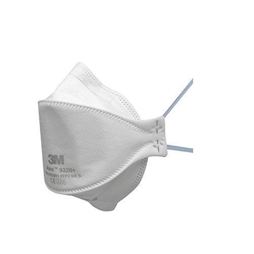 3M Aura Atemschutzmaske 9320+SV – Komfortable Partikelschutzmaske mit optimaler Gesichtsanpassung –...