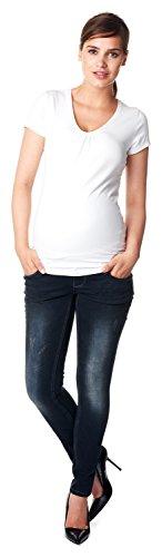 Noppies Damen Jeans OTB Skinny Britt Umstandsjeans, Blau (Dark Stone Wash C296), 44
