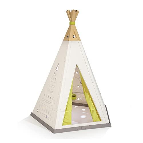 Smoby - Tipi - Spielzelt für drinnen und draußen, höhenverstellbar, pflegeleichter Kunststoff, leichte...