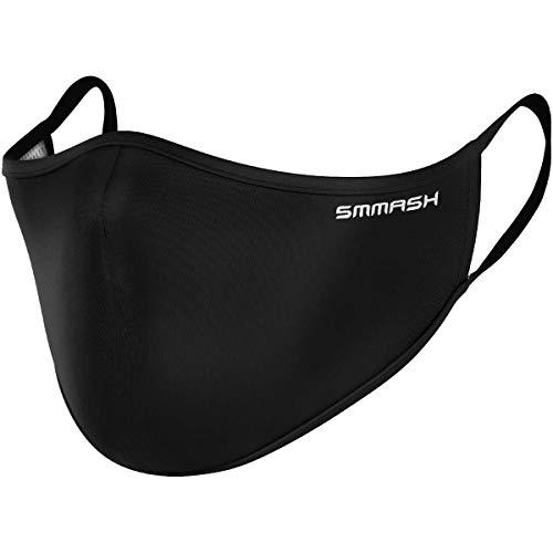 SMMASH Mundschutz Maske Wiederverwendbar, Hochwertiges Gesichtsmaske Waschbar, Multifunktional Trainingsmaske...