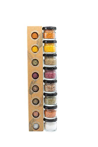Glosa Marina - Gourmet Salze, Salz aus Mallorca als ideales Gewürze Geschenkset/Salzset 8x25gr besondere...