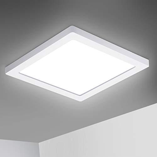 Oeegoo LED Deckenleuchte, 18W 1530LM Led Deckenlampe, Flimmerfreie Led Lampe Ultraslim 1.3cm, Wohnzimmerlampe...