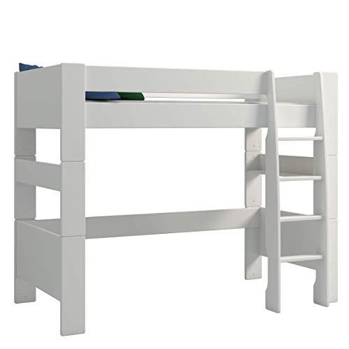 Steens For Kids Kinderbett, Hochbett, inkl. Lattenrost und Absturzsicherung, Liegefläche 90 x 200 cm, MDF,...