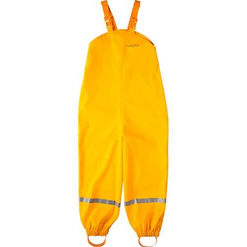 BMS Regenhose Buddelhose Matschhose für Kinder in Gelb Größe 104