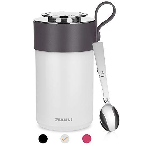 Opard Thermobehälter 600ml-Edelstahl Isolierbehälter Gefäß-Thermo Speisebehälter Box für warme Speißen,...