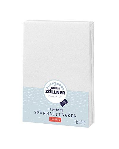 Julius Zöllner Frottee Spannbettlaken für Baby- & Kinderbett, 60x120cm bis 70x140cm, STANDARD 100 by...