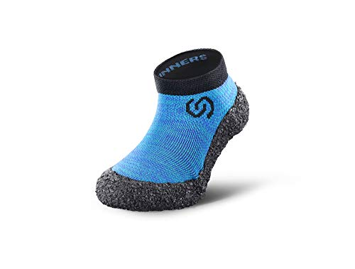 Skinners | Minimalistische Unisex Barfußschuhe für Kinder | Minimalist Barefoot Socks/Shoes | (Ozeanblau...
