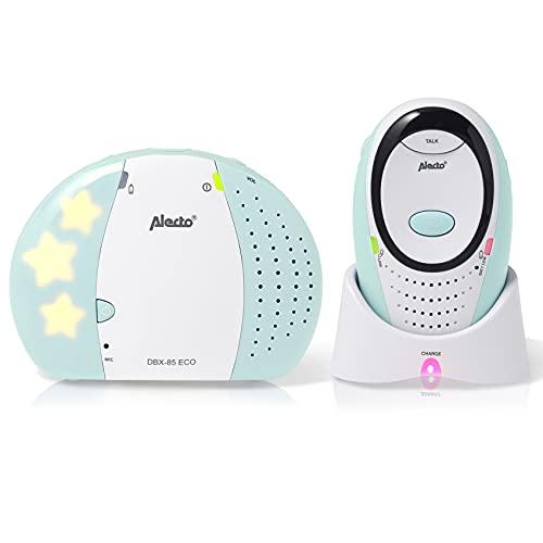 Alecto Baby DBX85MT Babyphone - 100% Störungsfreie und Sicherer Verbindung - Gegensprechfunktion - Nachtlicht...