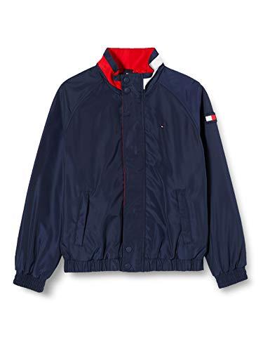 Tommy Hilfiger Jungen Dg Easy Zip Jacket Jacke, Blau (Twilight Navy 654-860 C87), 6-7 Jahre...