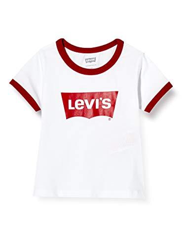 Levi's Kids LVG OVERSIZED BATWING RINGER 4653 T-Shirt - Mädchen weiß 5 Jahre