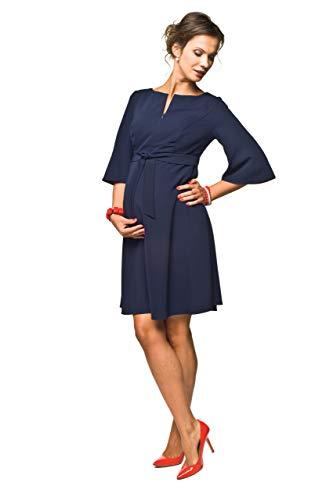 Umstandskleid elegant Stillkleid, Modell: NIMIS, dunkelblau, XL