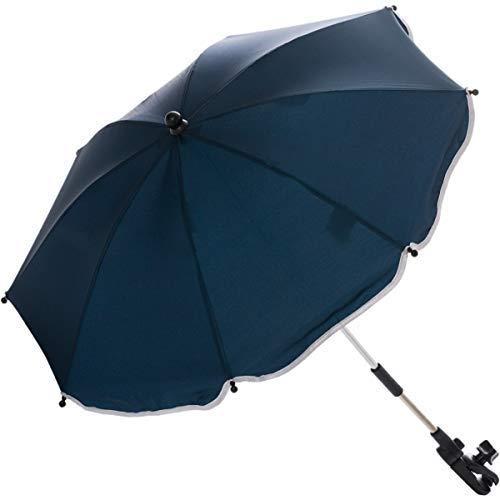 Sonnenschirm für Kinderwagen Buggy und Jogger mit UV SCHUTZ (50) Baby Kind Schirm (Marine)