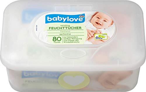 babylove Feuchttücher sensitive + 1 x Box, 1 x 80 St