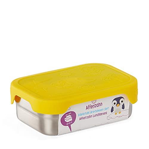 Affenzahn Edelstahl Brotdosen-Set - aus Edelstahl, bpa-frei für Jungen und Mädchen, im Kindergarten und Kita...
