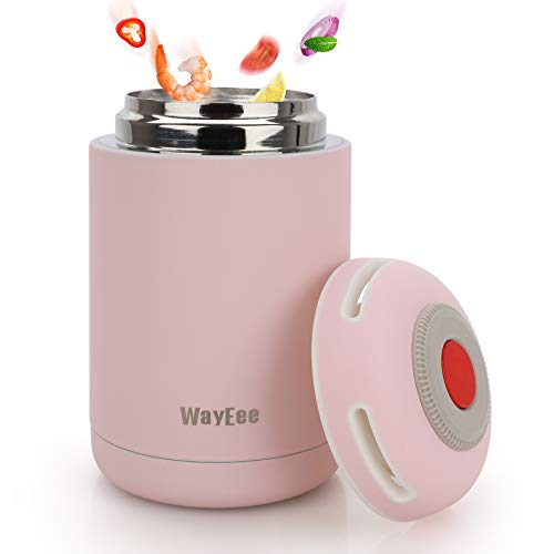 Thermobehälter 460ml Edelstahl Warmhaltebox Speisebehälter BPA freier Isolierbehälter Thermo Gefäß für...