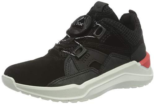 Ecco Jungen INTERVENE Hohe Sneaker, Schwarz (Black/Black 51052), 32 EU