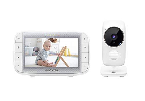 Motorola Baby MBP 485 - Babyphone mit Kamera - 5' Bildschirm - Temperatur, Mikrofon, Zoom, Schlaflieder -...