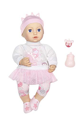 Zapf Creation 702901 Baby Annabell Sweet Dreams Mia, weiche Puppe mit Schlafaugen 43 cm, Online Verpackung