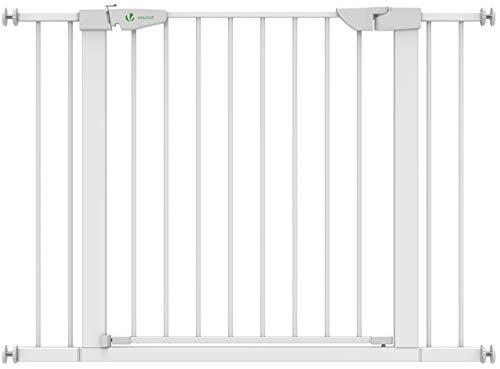 VOUNOT Treppenschutzgitter 76–108cm, ohne Bohren, Türschutzgitter für Kinder, Hunde und Katzen, Auto-Close...