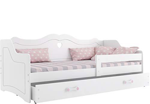 Kinderbett Julia für kleine Prinzessin 160x80cm mit Lattenrost und Matratze