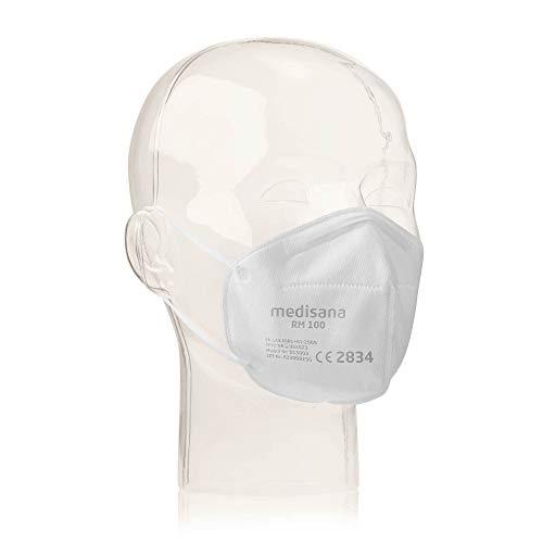 Medisana RM 100 FFP2/KN 95 Atemschutzmaske Staubmaske Atemmaske 3-lagige Staubschutzmaske Mundschutzmaske 10...
