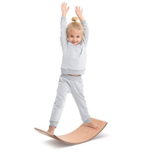 Milliard Waldorf Balance Board/Balancierbrett aus Holz, Montessori Wobble Board für Kinder und Erwachsene