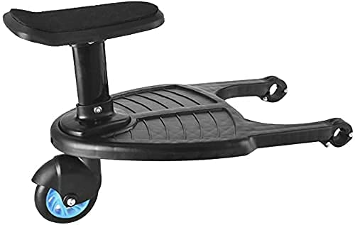 Buggy-Board mit Sitz, ETE ETMATE abnehmbares Zweit-Kindersitz, kompatibel mit Kinderwagen mit horizontaler...