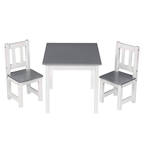 WOLTU SG014 Kindertisch mit 2 Stühle Kindersitzgruppe Holz Tischgruppe für Kinder Vorschüler Kindermöbel,...