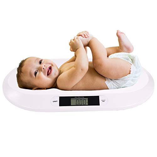 Belko® Babywaage flach digital bis 20kg Baby Waage Stillwaage Tierwaage Kinderwaage Säuglingswaage
