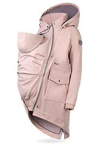 FUN2BEMUM 5in1 PARKA Softshell Mantel, ,Coat ,Umstandsjacke, FRONT / BACK Baby Tragejacke, Multifunktion DUST...