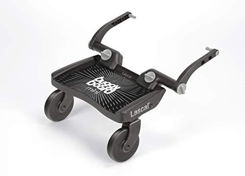Lascal BuggyBoard Mini, Kinderbuggy Trittbrett mit Stehfläche, Kinderwagen Zubehör für Kinder von 2-6...
