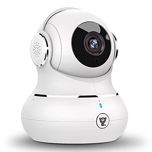 [2021 Upgrade] Überwachungskamera WLAN Kamera, Littlelf Babyphone 1080P Hundekamera mit app, 360°Schwenkbar...