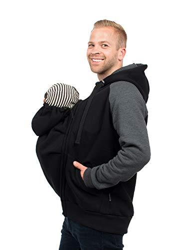 Viva la Mama - Tragejacke Baby für Männer, Papajacke für Babytragen, Trage mit Einsatz Mann - Quentin -...