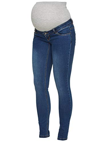 MAMALICIOUS Mama Licious Female Umstandsjeans Slim Fit 2932Blue Denim