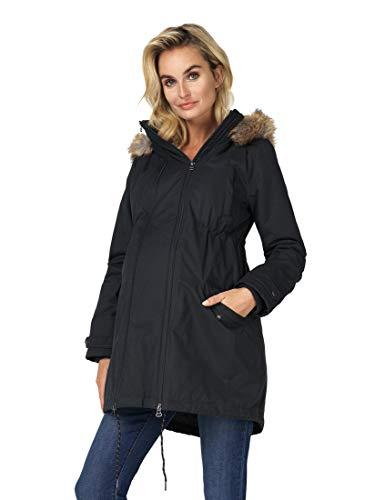 Noppies Damen Jacket 2-Way Malin Umstandsjacke, Schwarz (Black P090), S