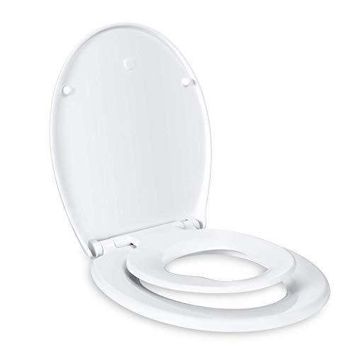 Dalmo Toilettendeckel Kinder und Erwachsene mit integriertem Kindersitz, Absenkautomatik Funktion, abnehmbarer...