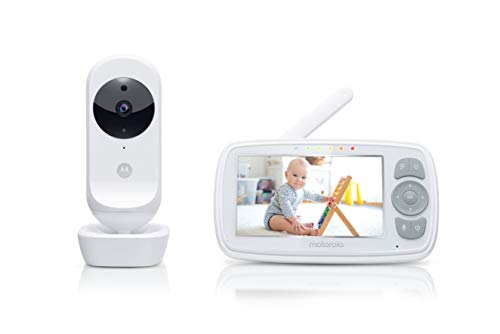 Motorola Ease 34 - Babyphone mit Kamera – 4,3 Zoll Video Baby Monitor HD Display - Nachtsicht,...
